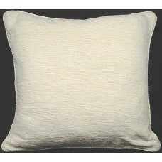 Cushion, Chenille/Cotton Ivory