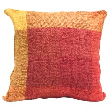 Cushion, Viscose Chenille - Burg/Yellow C