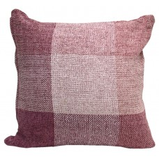 Cushion, Viscose Chenille-Lavender Check