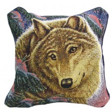 Tapestry Cushion, 17X17 - Wolf