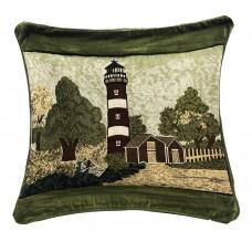 Tapestry Cushion, 17X17- Lt. W/ Trees
