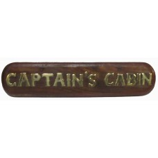 Captain'S Cabin - Brass On Wood - Sign