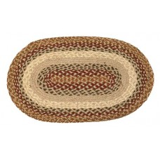 "Braided Jute Oval Place Mats12""X18"" -Country Spice"