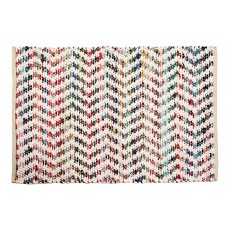 "Braided Floor Mat - White, Multi Color - 24X36"" (See # 50101/53101)"