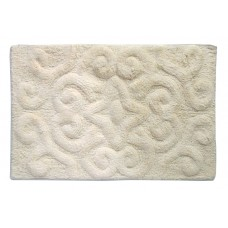 "Bath Mat- Tufted Cotton 20X32"" - Ivory"
