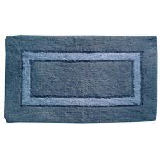 "Bath Mat- Sqr. Track - Cotton 20X30"" - Grey"