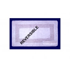 Bath Mat - White-Revresible - 18X24""