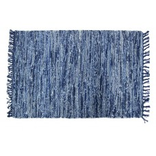 "Chindi Rugs - Denim Blue With Fringes -30""X48"" (52084)"
