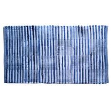 "Chindi Rugs - Denim Blue & White Check- 20X34"""