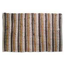 "Floor Mat, Cotton/Chindi- Grey/Black- 20 X30"""