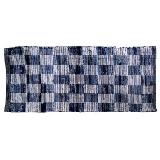 "Chindi Rugs - Denim Blue- Check - 27""X72"""