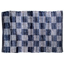 "Chindi Rugs - Denim Blue- Check - 36""X60"""