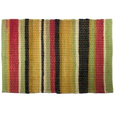 "Floor Mat, Chindi Cotton - Multi Clr, Summer Bright-30""X48"""