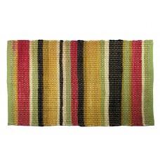 "Floor Mat, Chindi Cotton - Multi Clr, Summer Bright-27""X72"""