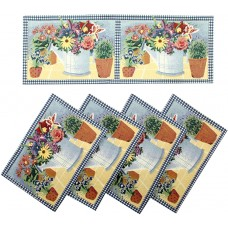 Tapestry Runner Set- Flower Watering Can