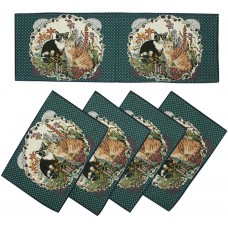 Tapestry Runner Set - Cats (4+1)