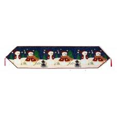 """Runner 54"""" - Christmas - 3 Snowmen"""