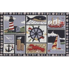 Place Mat - Nautical, Lobster/Ship Wheel