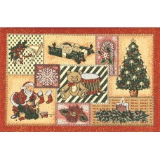 Place Mat, Christmas, Sampler- +Gold Work