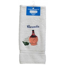 Hand Towels, Embroidered - Wine Bottle