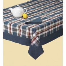 Tablecloth W/Border,60X104-Marine Navy