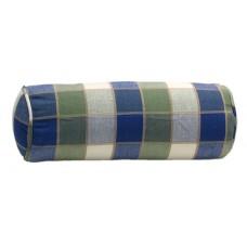 Bolster Pillow,8X22-Country Khaki/Blue