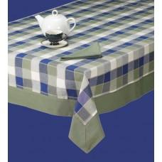 T.Cloth W/Border,60X104-Cntry Khaki/Blu