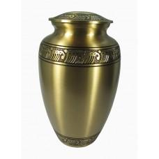 Urn - Brass, Mat Finish - Floral