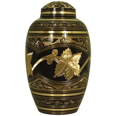 Urn - Solid Brass - Country Finish, Pink