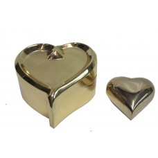 Keep Sakes-Hearts - Brass , Set Of 2 Pcs.Keepsake