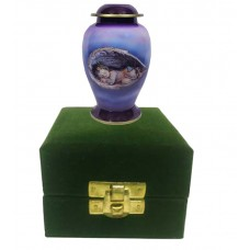 Keepsake Urn - Resting Angel, In Velvet Box