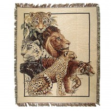 Tapestry Throw - Lions