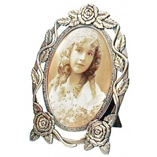 Picture Frame, Oval Rose