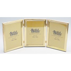 Picture Frame, Brass 5X7 Triple
